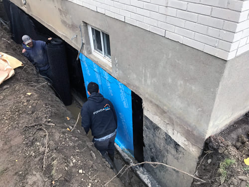 Excavation Fondasec - membrane, sceller les fissures, ciment hydraulique, excavation, drain français. | Fondasec.com